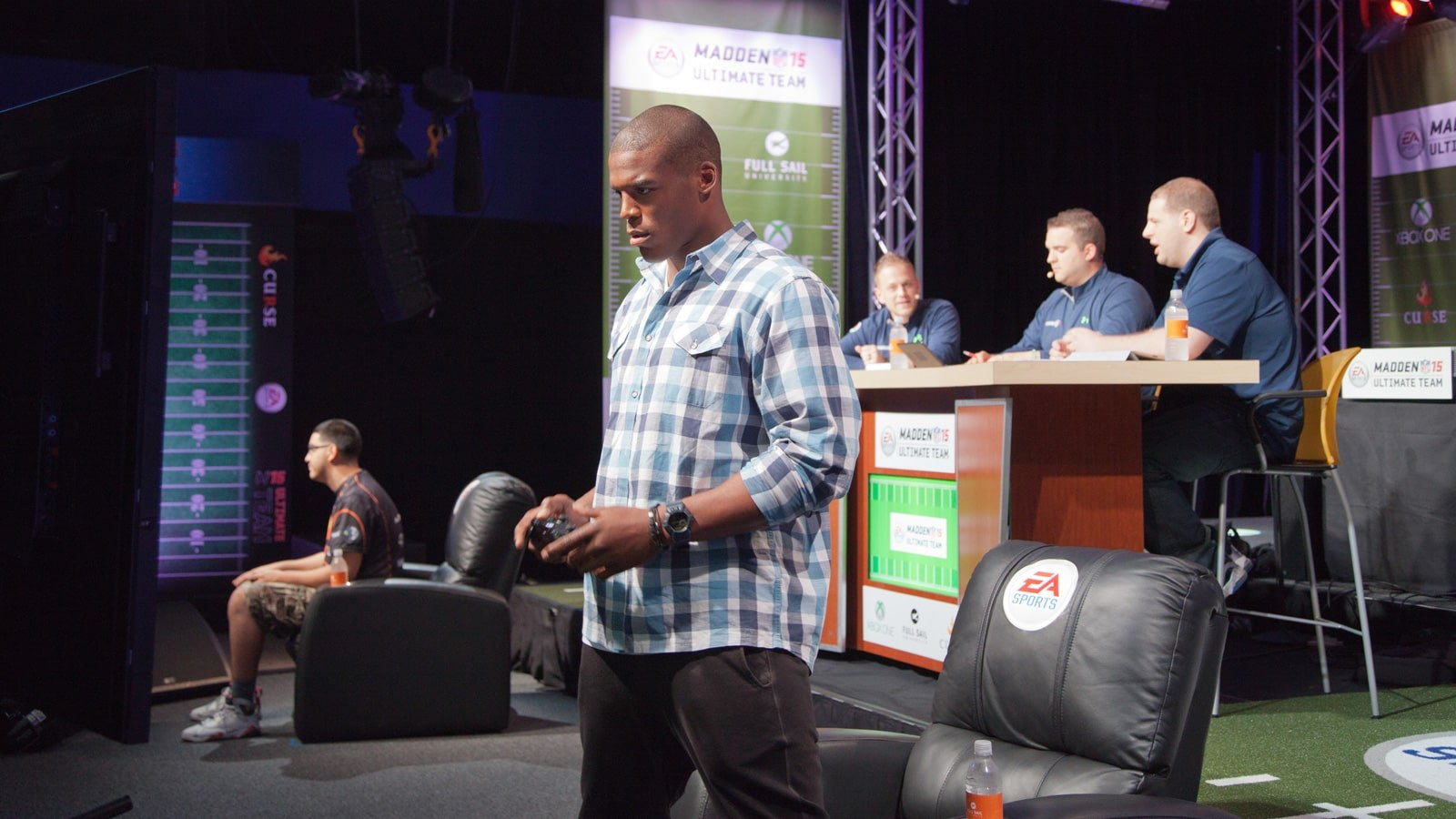 Cam Newton Plays in a Madden NFL 15 Tournament on Campus - Hero image