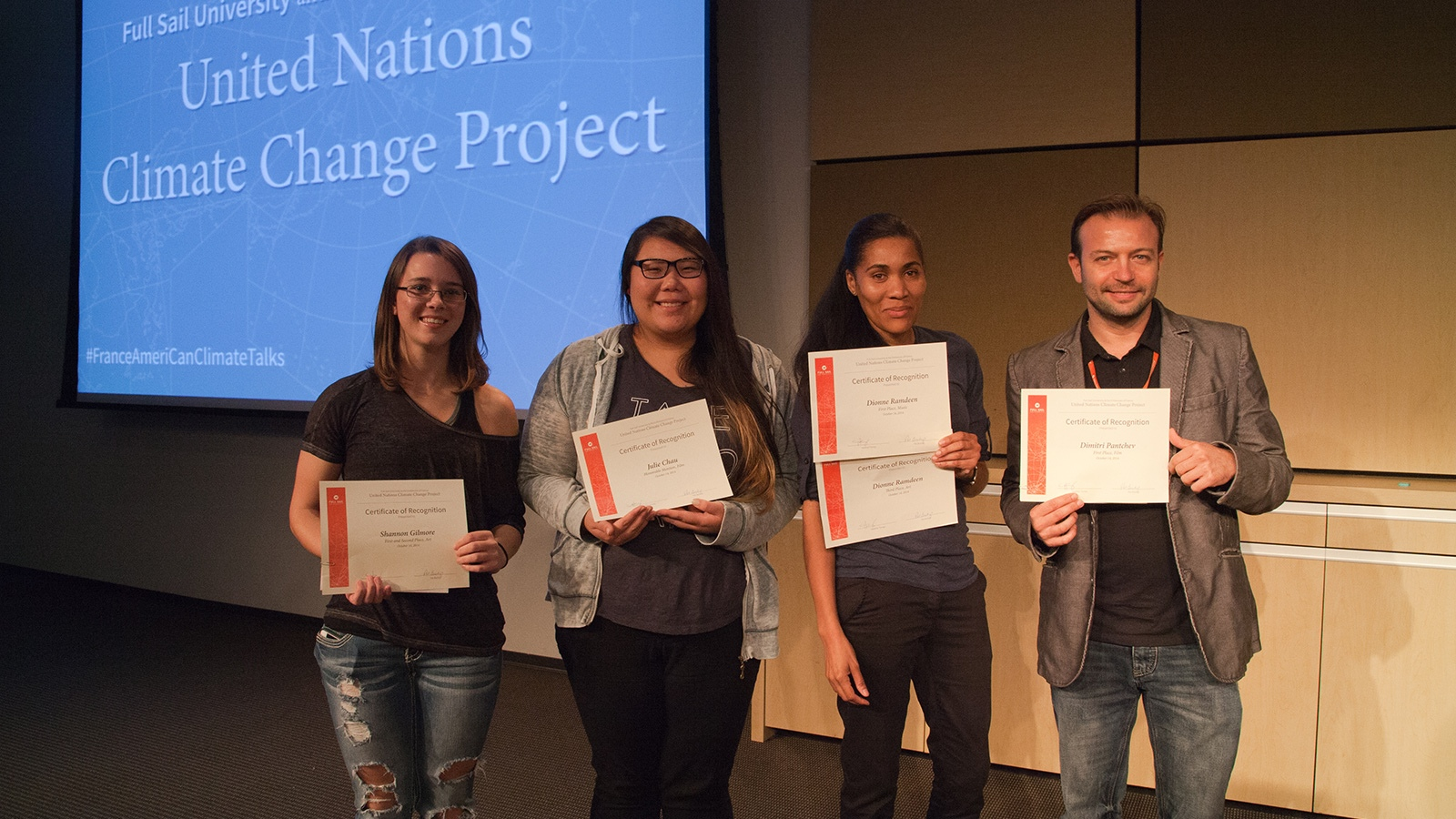 Students Honored for Contributions to UN Climate Change Project - Hero image