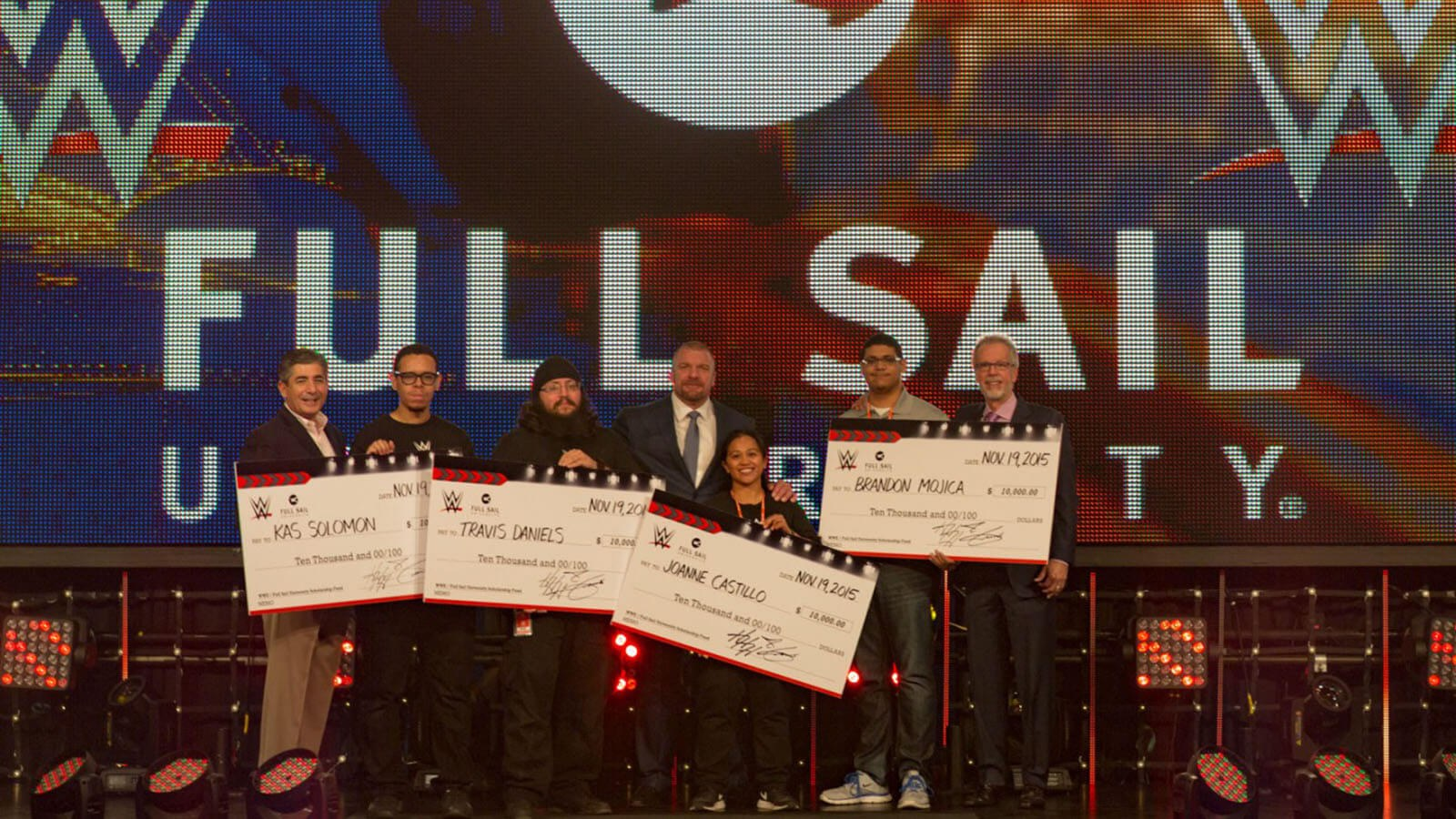 WWE® Awards $180,000 in Scholarships to Full Sail University Students - Hero image