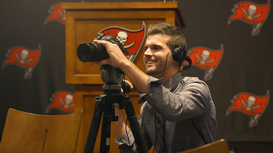Featured story thumb - Film Grad Stephen Lynch On Working For The Tampa Bay Buccaneers Mob