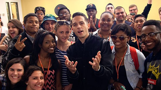 Featured story thumb - Rapperproducer G Eazy Inspires Students During Campus Visit Mob