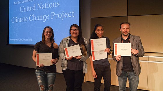 Featured story thumb - Students Honored For Contributions To Un Climate Change Project Mob